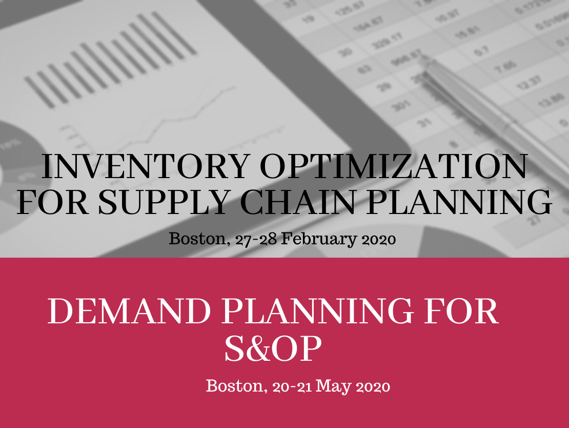 Boston Inventory Optimization and Demand Planning Workshops